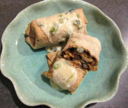 Baked Chicken Burritos with Poblano Cream Sauce (2)