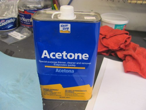 Acetone for Degreasing Surfaces