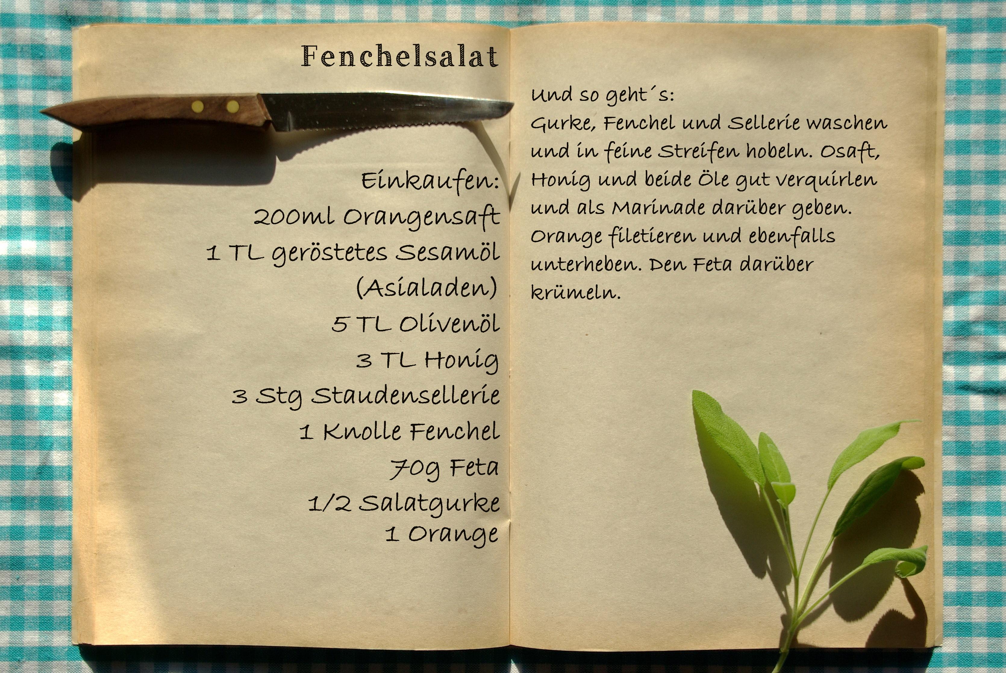 Einkaufszettel Fenchelsalat by Glasgefluester