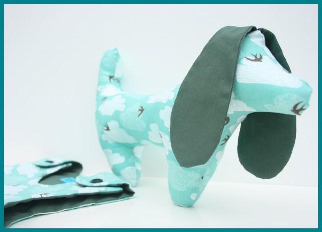 lua sleepsack + george the puppy