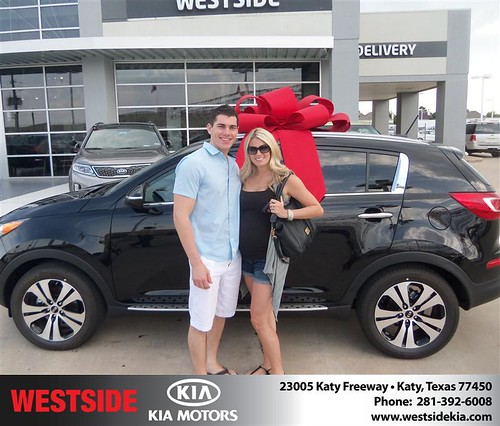 Thank you to Zachery Boyer on the 2013 Kia Sportage from Rubel Chowdhury and everyone at Westside Kia! by Westside KIA