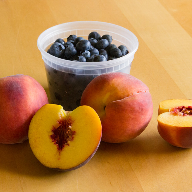 Peach Blueberry Crumb Bars