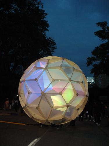 hybrid globe - nuit blanche 2013