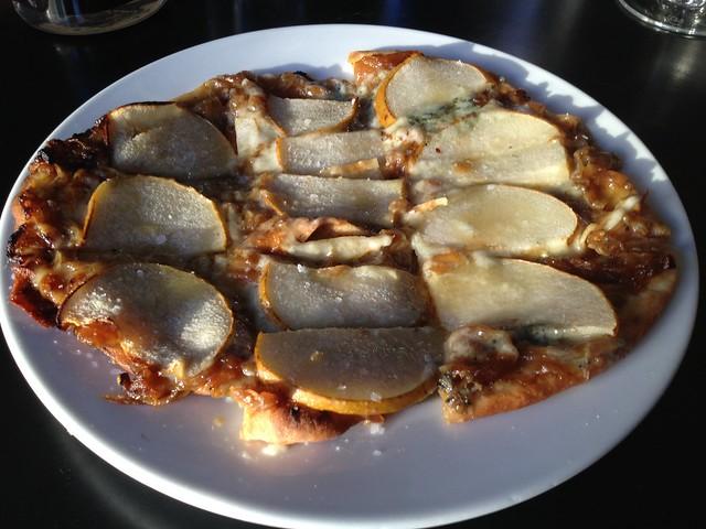 Parisian grilled flatbread pizza - Yield Wine Bar