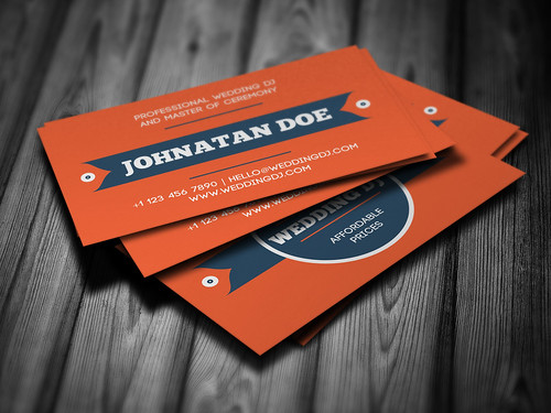 Wedding DJ Business Card