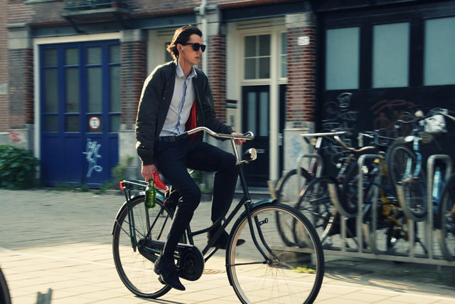 Suits on bikes