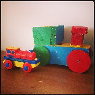 The Bene Express made by Maddy & his favourite @bigjigstoys train.