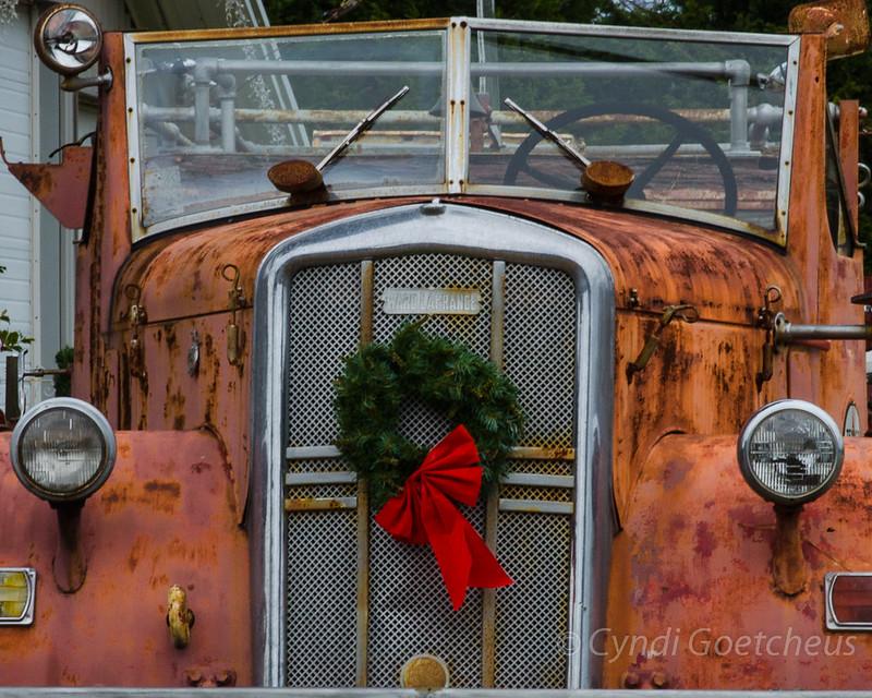 truck wreath wabi sabi