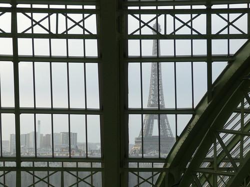 Eiffel Through the Grand Palais Glass