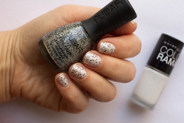 01 Nubar Rock Candy Crush over Maybelline Colorama #51