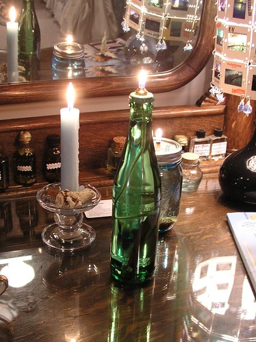 money bottle lamp
