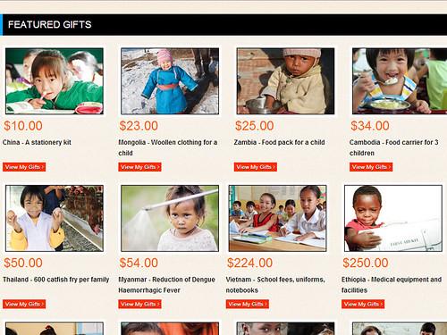 world vision gift catalogue 2013/2014