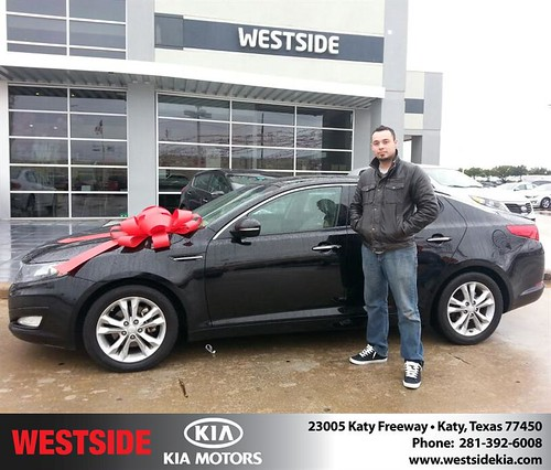 Thank you to Alejandro Montoya on your new 2012 #Kia #Optima from William Hadnott and everyone at Westside Kia! by Westside KIA