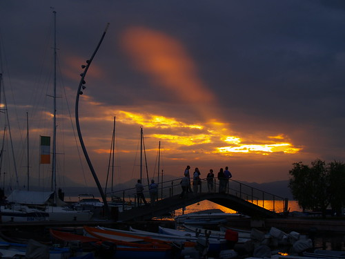 Sunset on Bardolino, italy