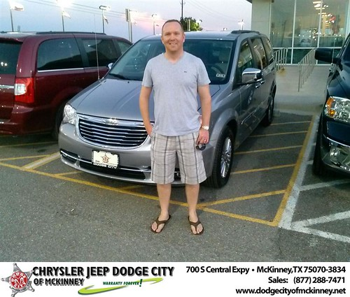 Thank you to Thomas Whittingham on the 2013 Chrysler Town & Country from David Walls and everyone at Dodge City of McKinney! by Dodge City McKinney Texas