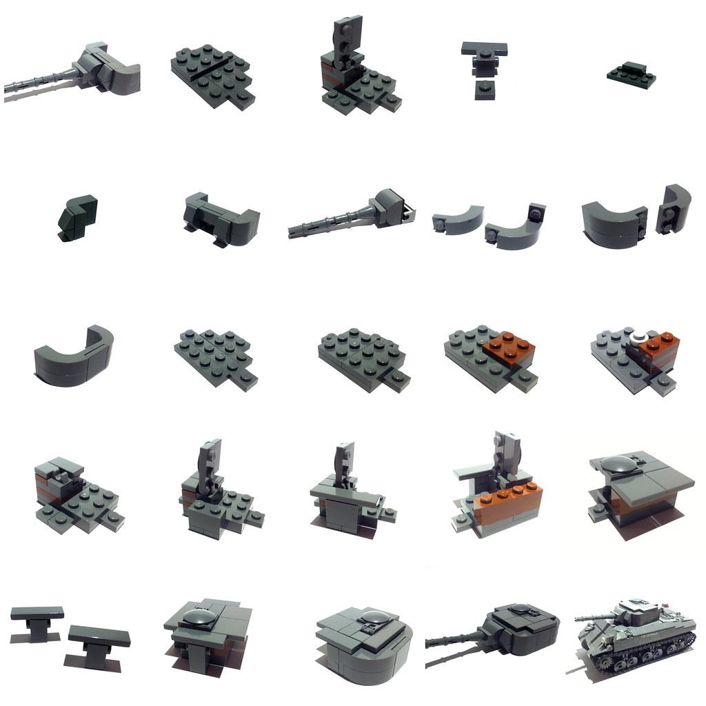 Lego Sherman Turret Instructions