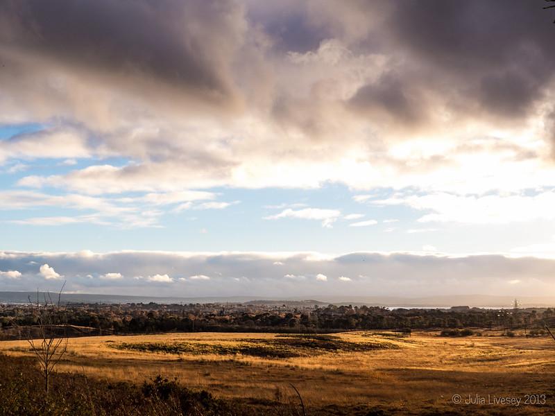 Brooding skies over Upton Heath
