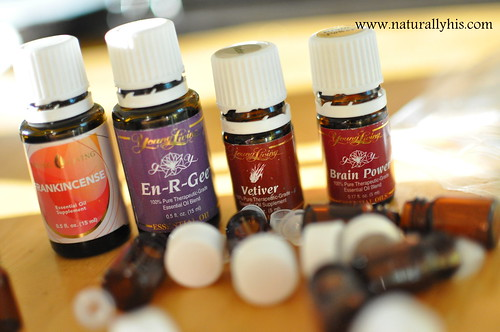 organizing studying essential oils