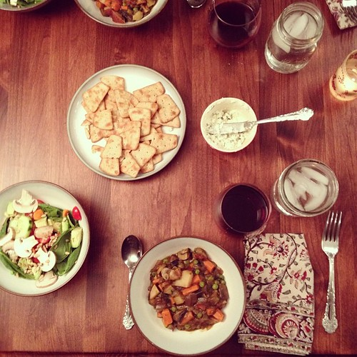 Dinner with friends; by friends. #love