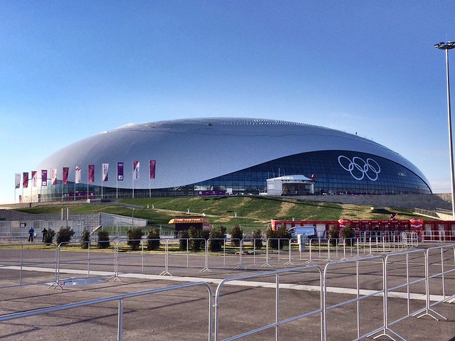 """The """"Bolshoy"""" Ice Dome, where a majority of the #Sochi2014 hockey games will be played"""