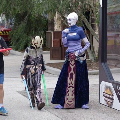 クローンウォーズのキャラクターもグリーティングに登場。