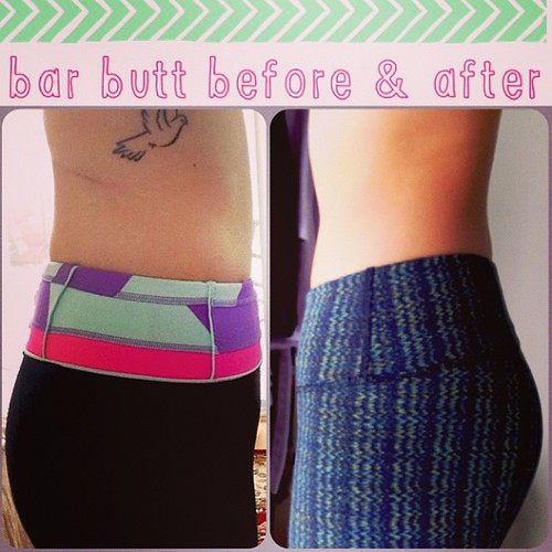 bar butt, bar method, before and after, lift and tone