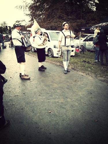 Oompah band at Rapha Supercross