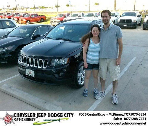 Thank you to Jacqueline Shane on the 2014 Jeep Compass from David Walls and everyone at Dodge City of McKinney! by Dodge City McKinney Texas