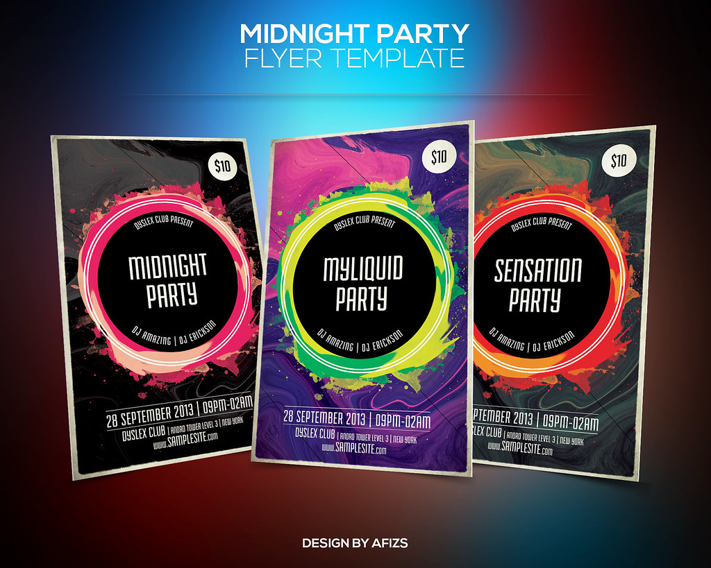Liquid Party Flyer