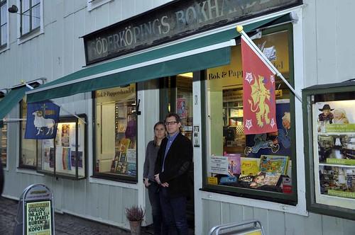 Louise Malmström och Anders Karlin har många planer för Söderköpings bokhandel.