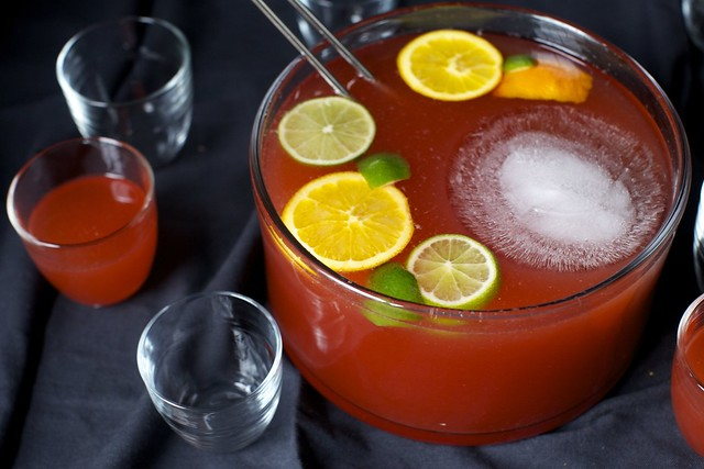 rum punch, with campari