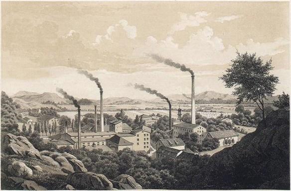 Rosendahls Fabriker kring 1860