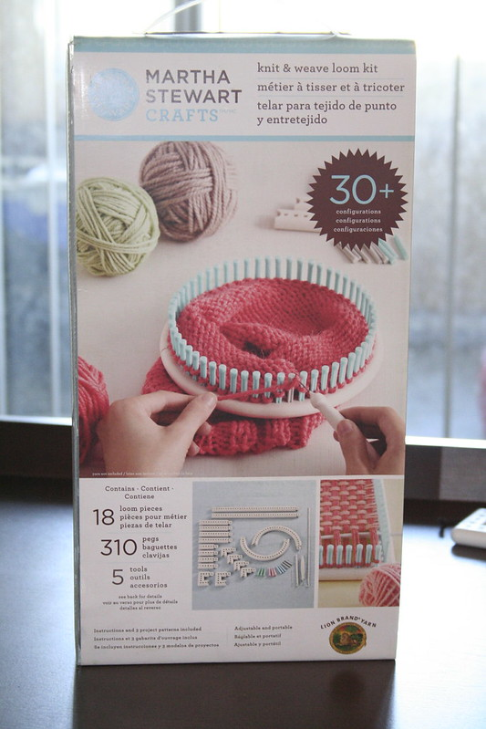 Looming over my head lazy lady for Martha stewart crafts knit weave loom kit
