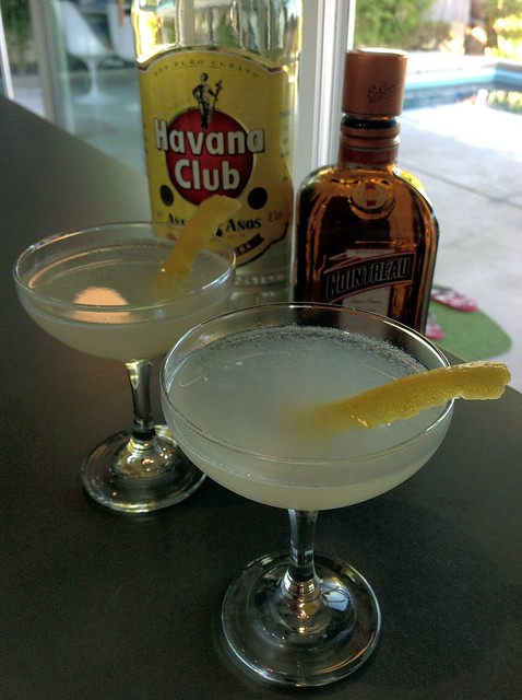 Oh Gosh (Tony Conigliaro): Havana Club 3 years, lime, triple sec, simple syrup, lemon twist