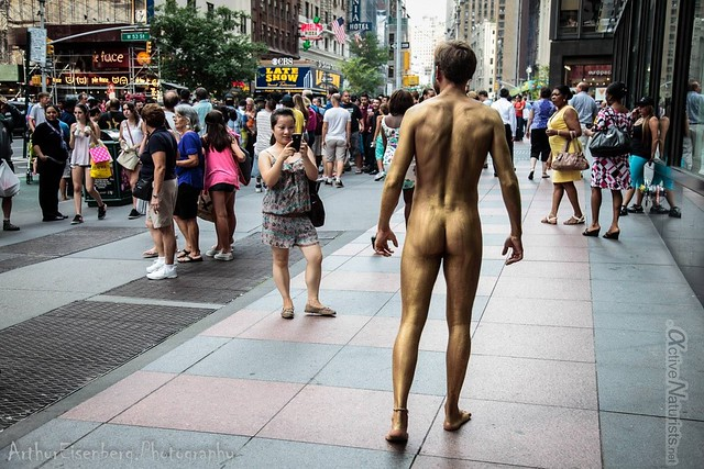 naturist 0011 body paint art, Times Square, New York, NY, USA