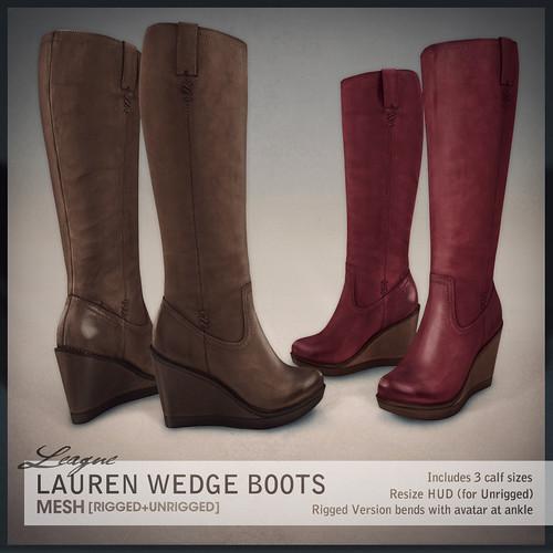 League Lauren Wedge Boots [Collabor88]