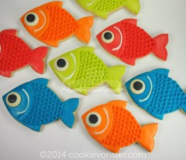 Fishes!!!!! with white chocolate eyes