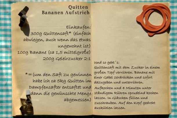 Einkaufszettel Quitten Bananen Aufstrich by Glasgeflüster