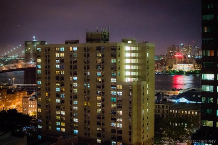 new york city brooklyn bridge night