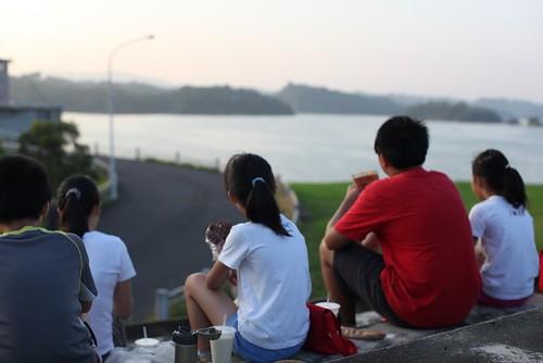 台南烏山頭水庫:望著水庫吃早餐(9.11ys)