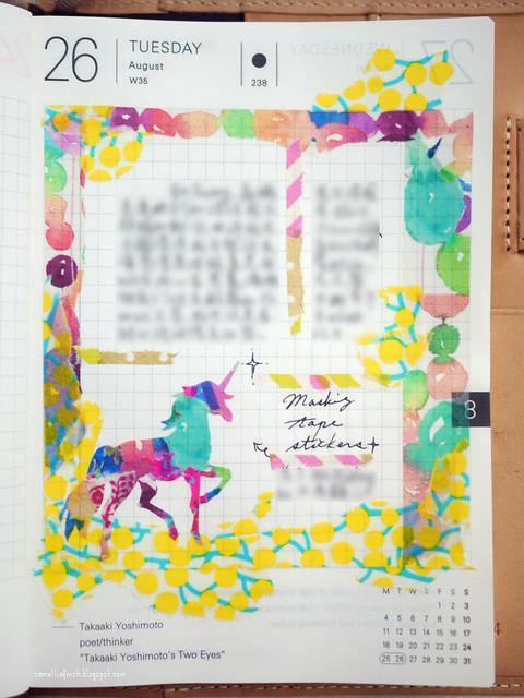 教學:如何用紙膠帶拼貼夢幻動物貼紙