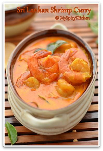 Sri Lankan Prawn Curry, Blogging Marathon, Around the world in 30 days with ABC cooking, Sri Lankan Food, Sri Lankan Cuisine,