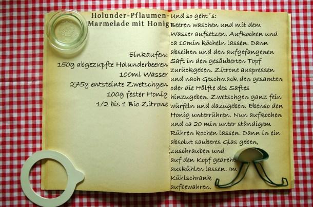 Einkaufszettel Zwetschgen Holunder Marmelade by Glasgeflüster