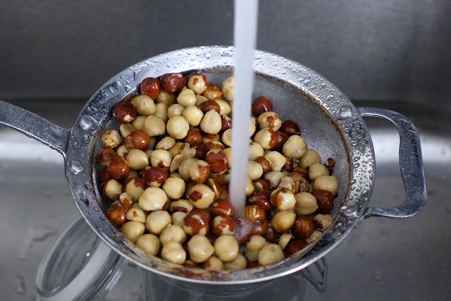 rinsing the nuts