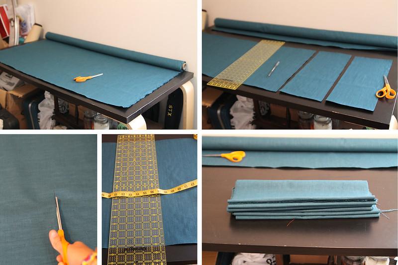 DIY Pleated Bedskirt Cut Fabric