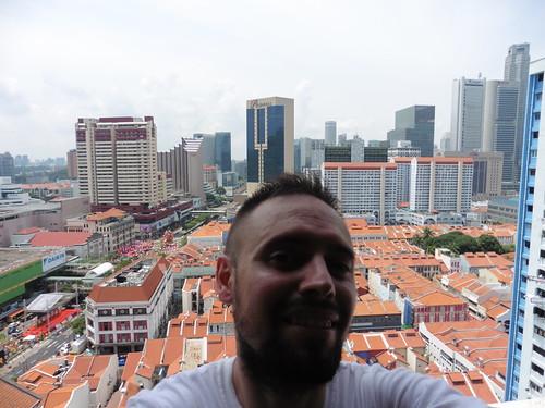 Mirador gratis, situado en Chinatown Complex, en Singapur