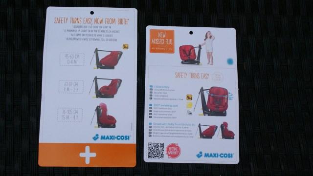 maxi cosi axissfix plus labels