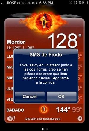 Temperatura en Mordor