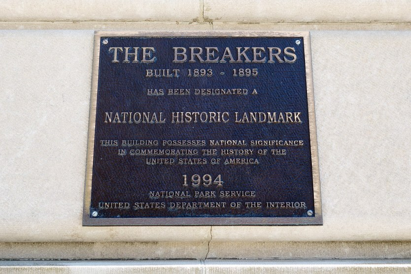 The Breakers Placard.