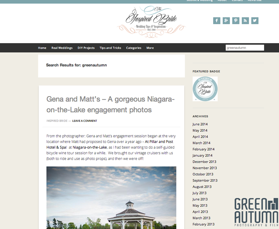 the inspired bride wedding inspirational blog